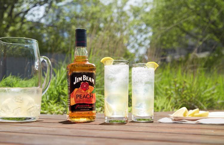 Jim Beam Peach Sparkling Lemonade