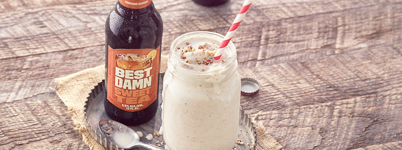 Best Damn Spirited Butter Pecan Shake