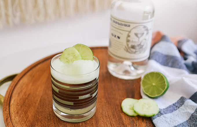 Frozen Cucumber Gin & Tonic