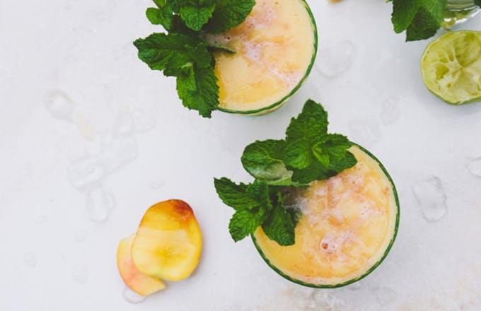 Frozen Peach & Chambord Mezcal Margarita