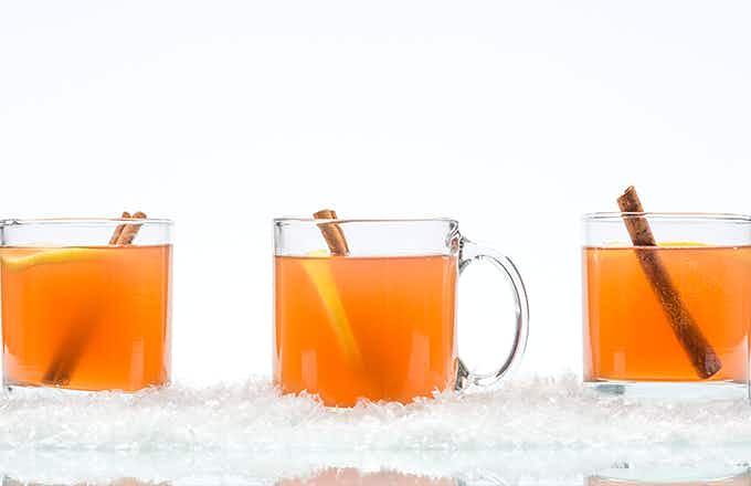 Blood Orange Bourbon Hot Toddy