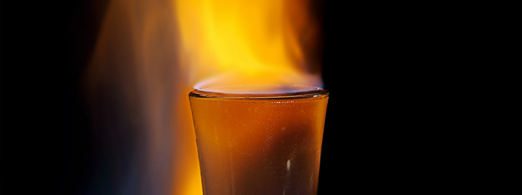 Flaming Dr. Pepper