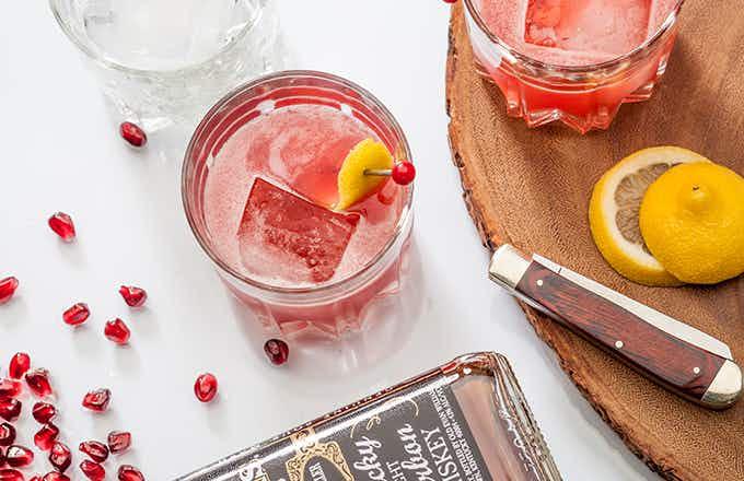 Pomegranate Whiskey Sour